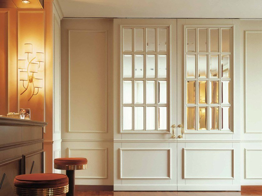 Hinged wood and glass door LONDRA by Arnaboldi Interiors