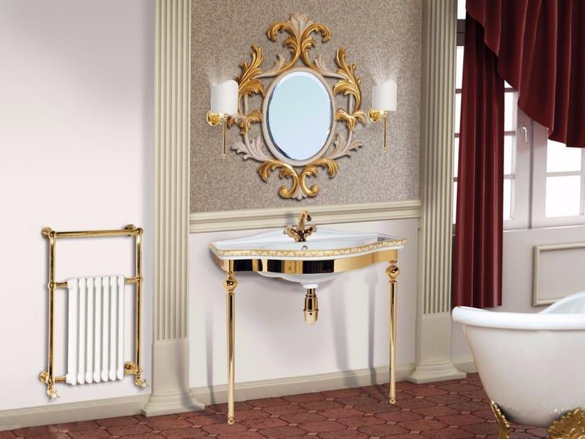 Consolle lavabo in ottone con specchio LONDRA CM03CS - LA BUSSOLA