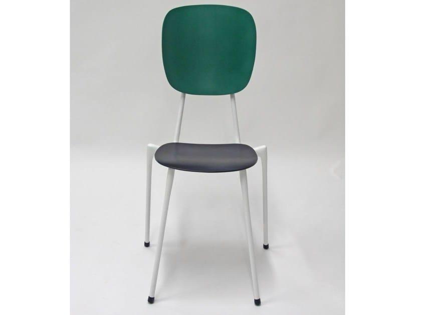 Metal counter stool LONG ARAPODE by Binome