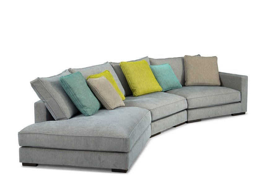 Fabric sofa with removable cover LONG ISLAND by ROCHE BOBOIS