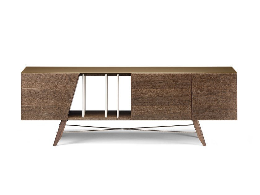Wooden sideboard LONGPLAY by Arketipo