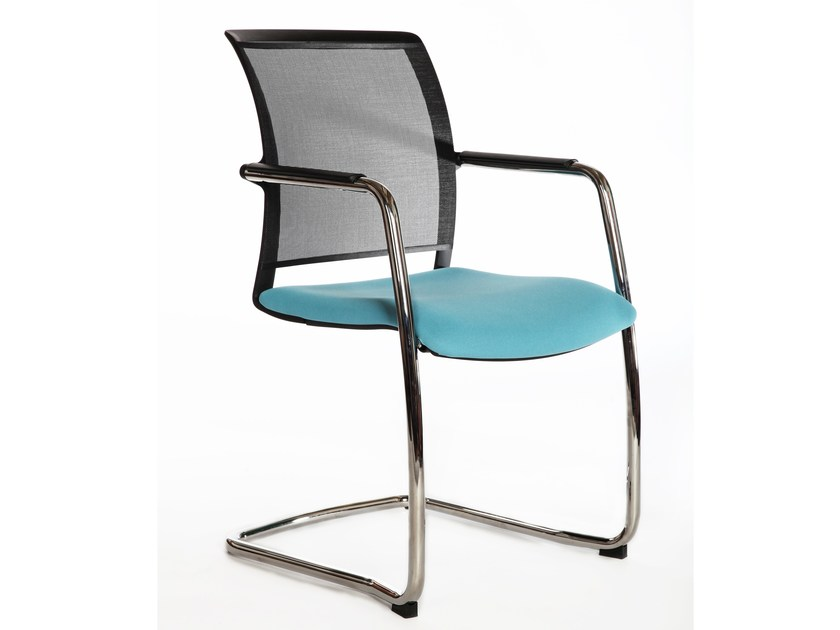 Cantilever mesh chair with armrests LOOK 272-KZ-N4 by LD Seating