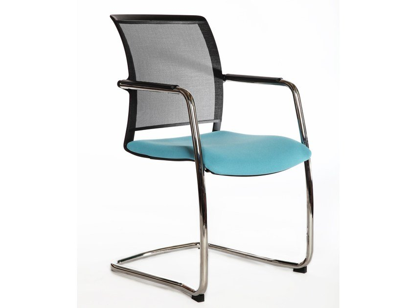 Cantilever mesh chair with armrests LOOK | Cantilever chair by LD Seating