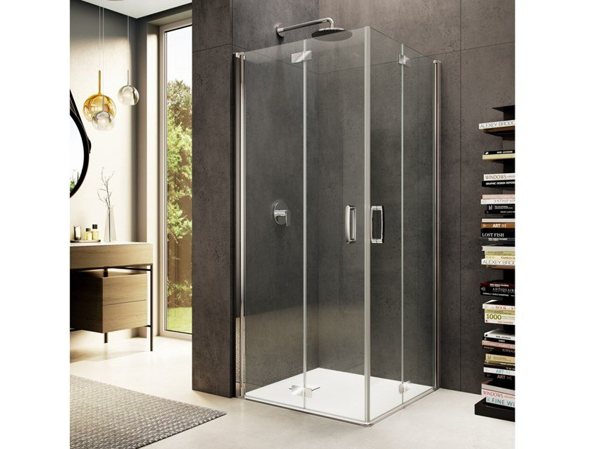 Corner glass shower cabin LOOK FREE LE-2 by Provex Industrie