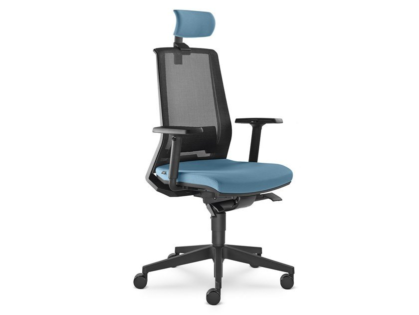Executive chair with 5-spoke base with headrest LOOK | Executive chair by LD Seating