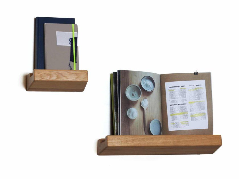 Solid wood wall shelf LOOKSHELF by Vij5