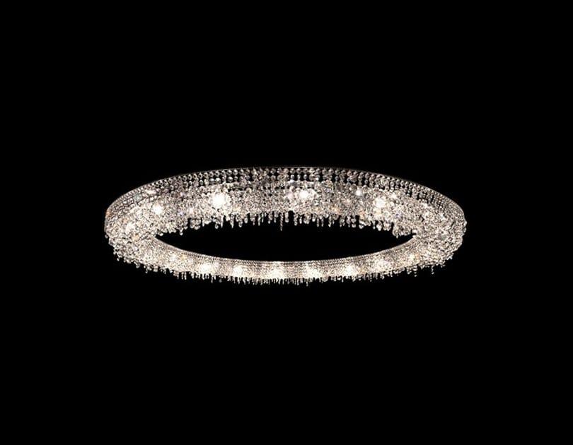 Lampada a sospensione alogena in cristallo LOOOP | Lampada a sospensione in cristallo by Manooi