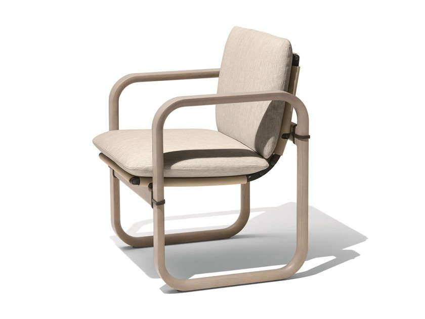 Ash garden chair with armrests LOOP | Chair by GIORGETTI