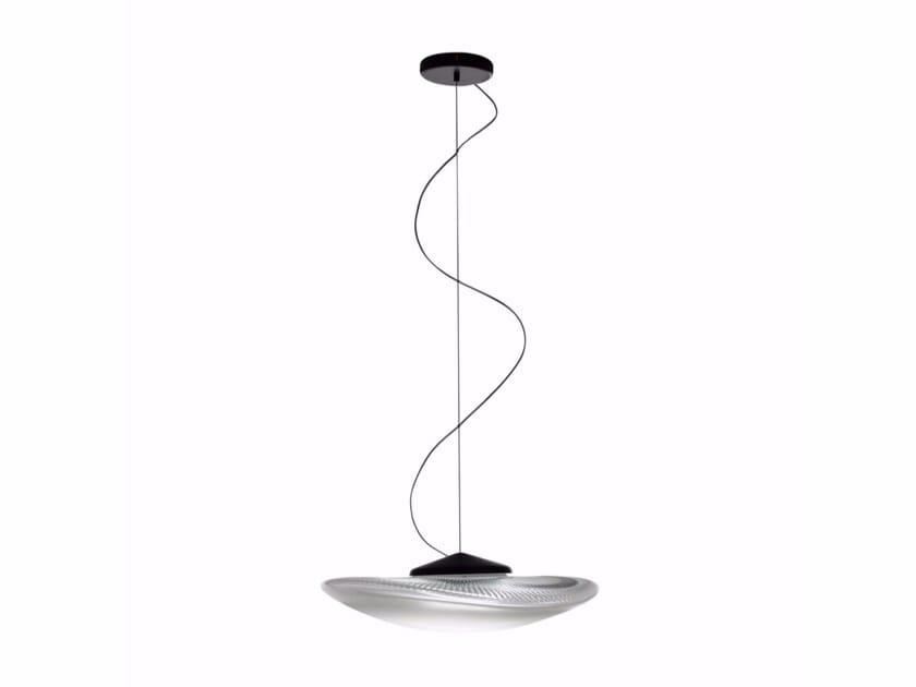 LED blown glass pendant lamp LOOP | Pendant lamp by Fabbian