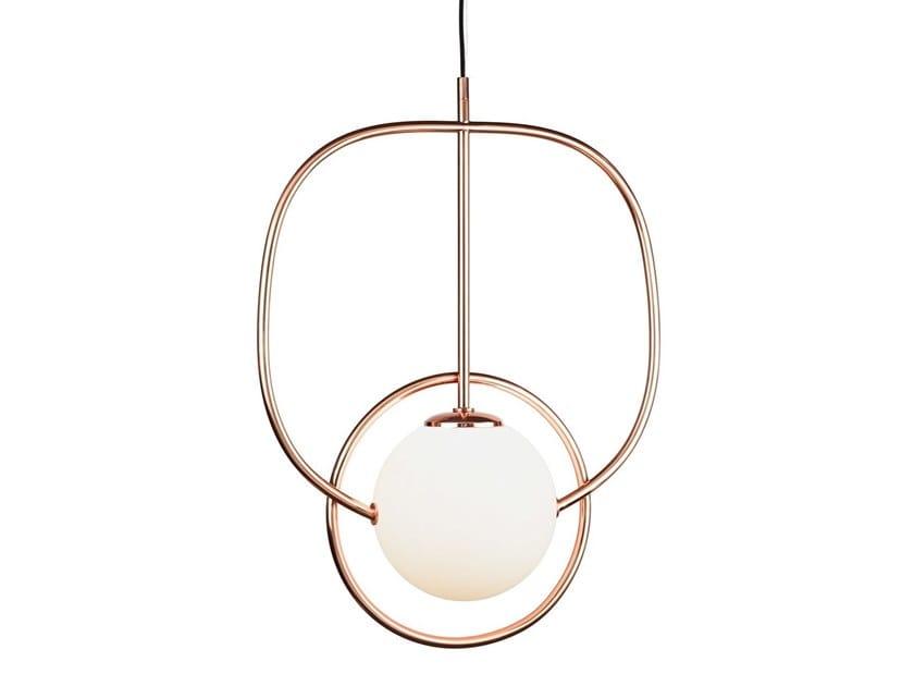 LED metal pendant lamp LOOP by UTU Soulful Lighting