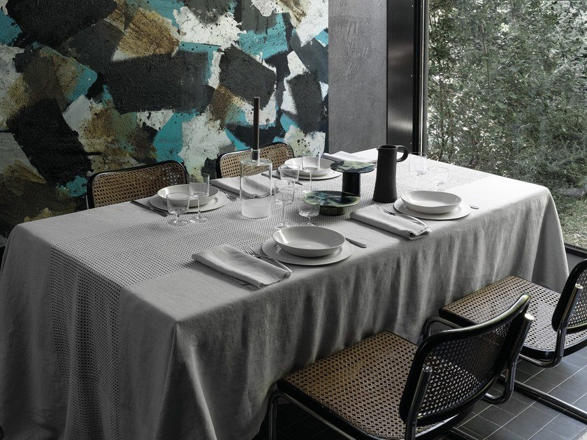 Linen tablecloth LOOP by Society Limonta