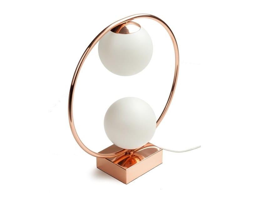 LED metal table lamp LOOP TABLE II by UTU Soulful Lighting