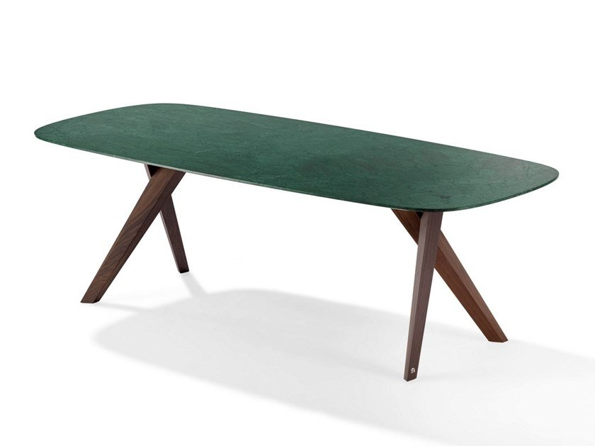 Rectangular natural stone dining table LOPE by Draenert