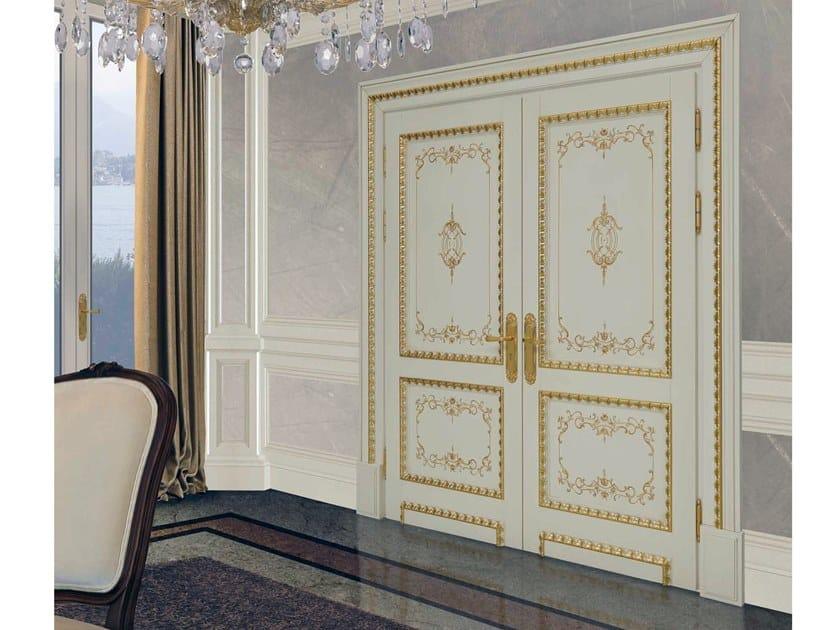 Hinged wooden door LORAN by Arnaboldi Interiors