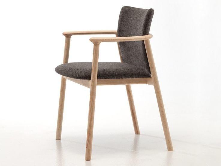 Sedia imbottita con braccioli LORD 02 - Very Wood