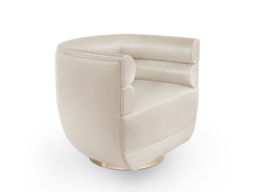 Fabric armchair with armrests LOREN | Armchair by Delightfull