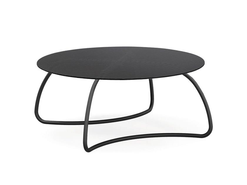 Table de jardin ronde en verre LOTO DINNER By Nardi design ...