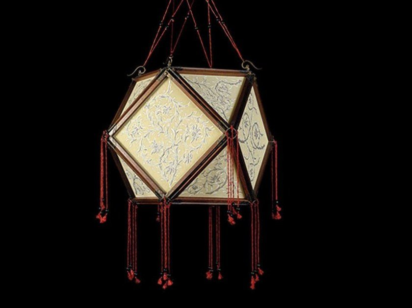 Silk pendant lamp LOTO by Fortuny