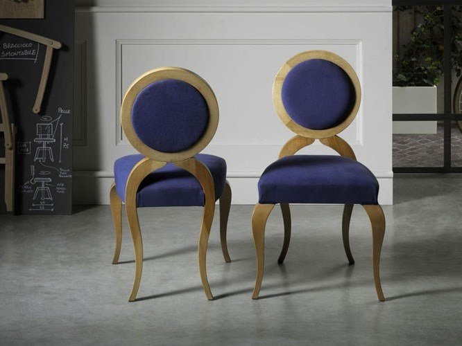 Medallion upholstered fabric chair LOTTOSEDIA by L'Ottocento