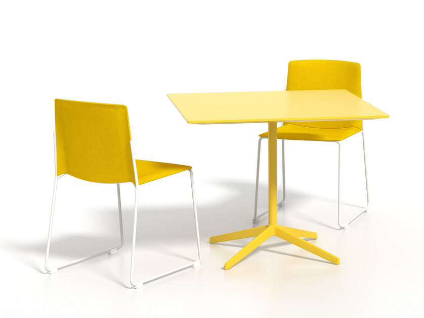Square aluminium dining table LOTTUS AL | Square table by ENEA