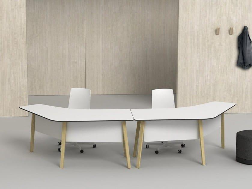 Wooden workstation desk LOTTUS WOOD | Office desk by ENEA
