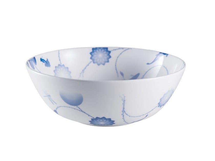Porcelain salad bowl LOTUS AND FISH | Porcelain salad bowl by ZENS Lifestyle