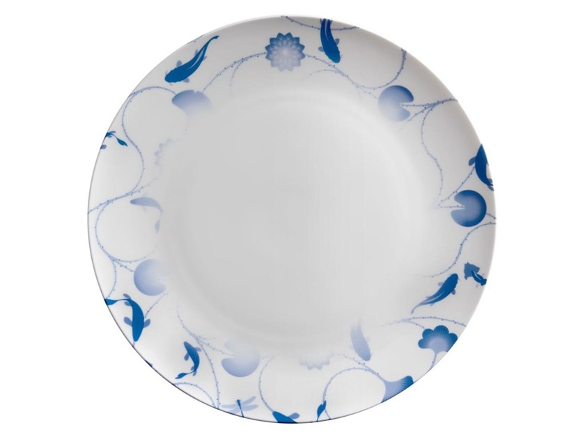Porcelain dinner plate LOTUS AND FISH | Dinner plate by ZENS Lifestyle  sc 1 st  Archiproducts & LOTUS AND FISH | Dinner plate Lotus and Fish Collection By ZENS ...
