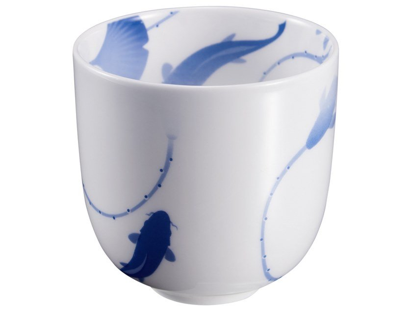 Porcelain cup LOTUS AND FISH | Porcelain cup by ZENS Lifestyle