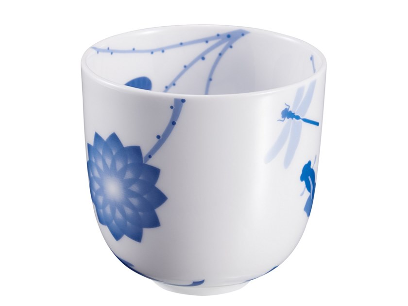 Porcelain tea cup LOTUS AND FISH | Tea cup by ZENS Lifestyle