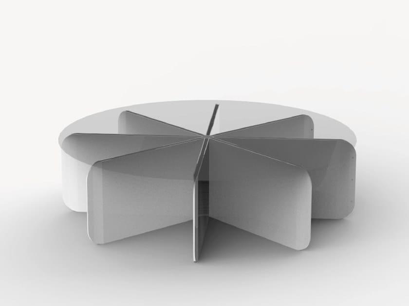 Aluminium garden side table LOTUS by Ciela Mare