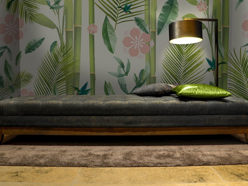 Vinyl wallpaper with floral pattern LOTUS by Baboon