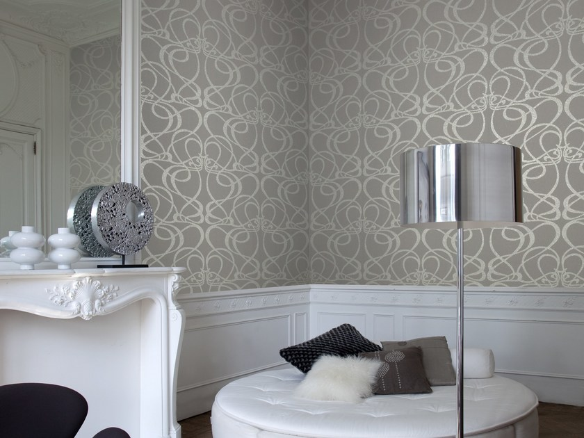 Washable non-woven paper wallpaper LOTUS LOOPS by Omexco