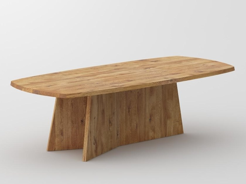 Solid wood table LOTUS by Vitamin Design