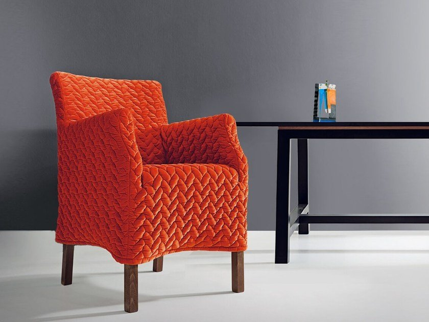 Fabric armchair with armrests LOU ALTA 43-70 by MARKTEX