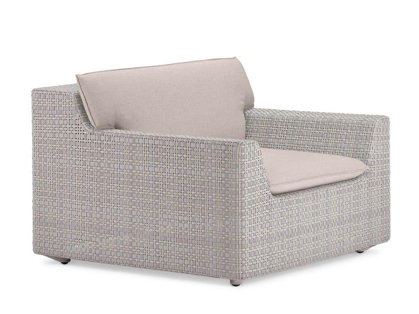 Fabric garden armchair with armrests LOU   Garden armchair by Dedon