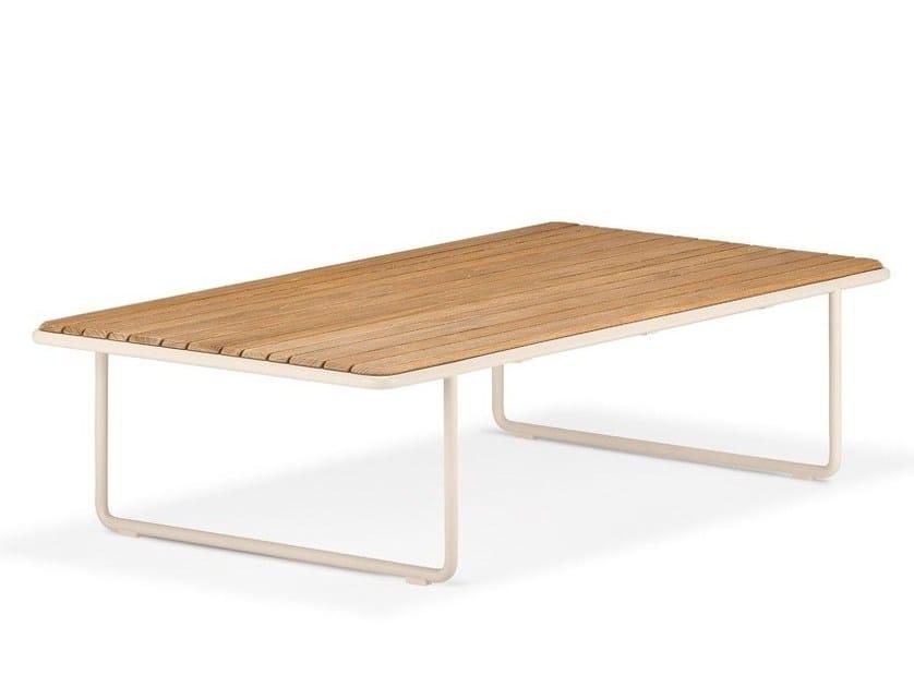 Rectangular teak garden side table LOU | Teak coffee table by Dedon