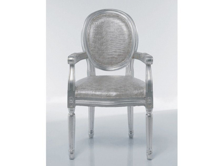 Medallion upholstered easy chair with armrests LOUIS CROCO ANTIQUE by KARE-DESIGN