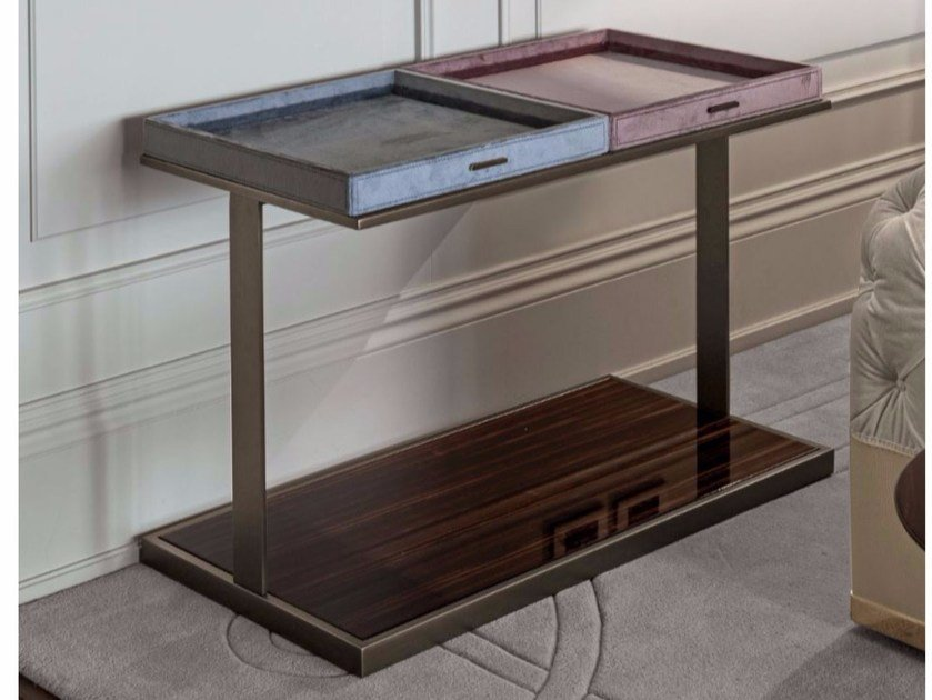 Rectangular wooden coffee table with tray LOUIS by Longhi