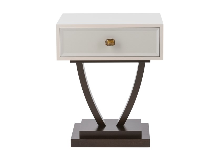 Lacquered rectangular bedside table with drawers LOUIS by Green Apple