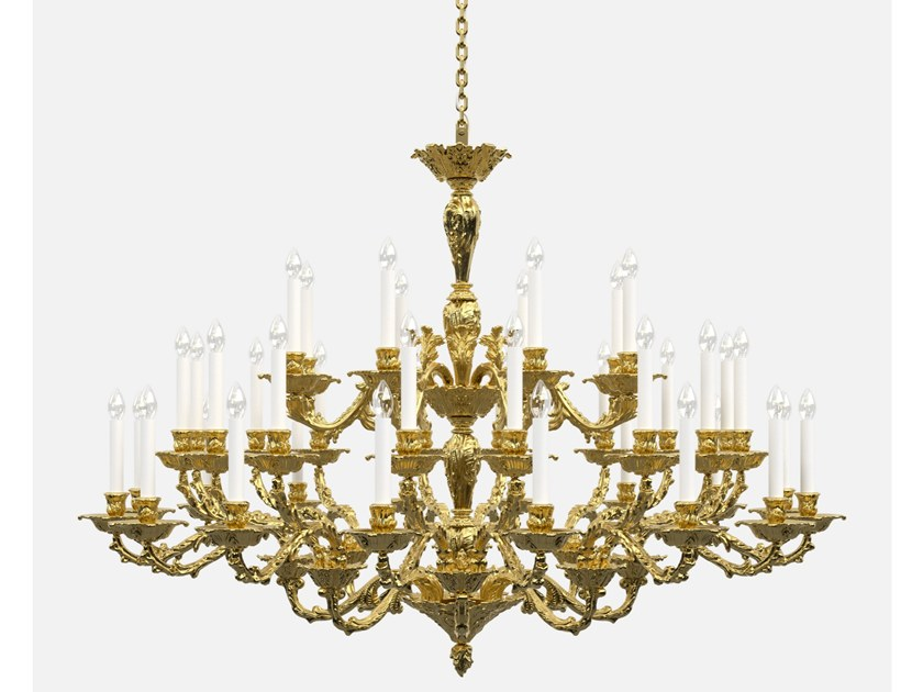 Louis XIV direct light brass chandelier LOUIS HISTORIC DESIGN by PRECIOSA Lighting