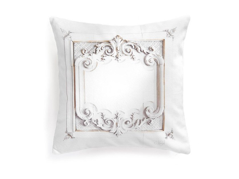 Square polyester cushion LOUIS XV PANELLING (SERIES 1) by Koziel
