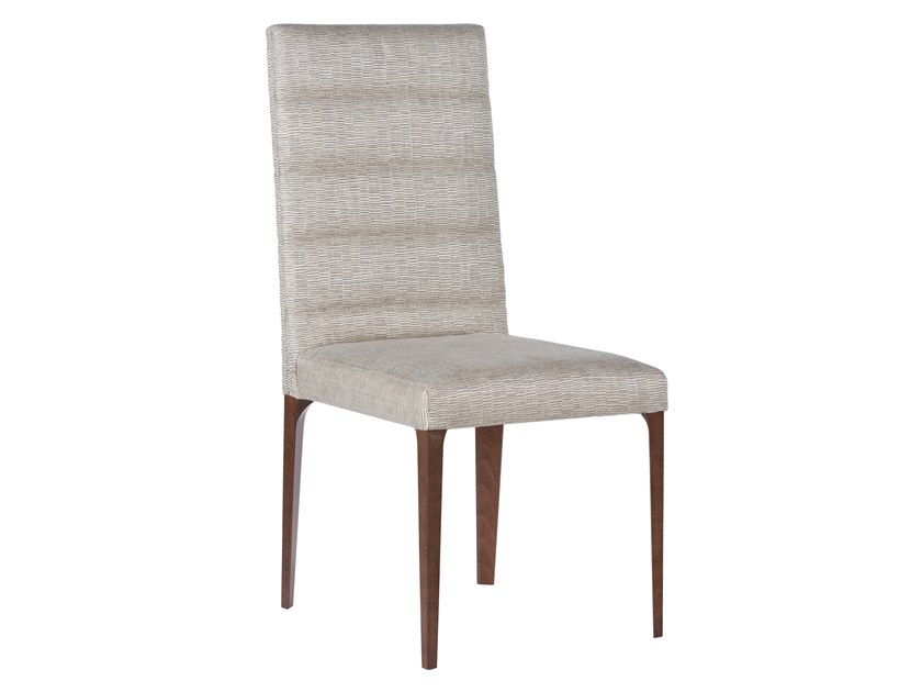 Upholstered high-back fabric chair LOUISE   Fabric chair by Green Apple