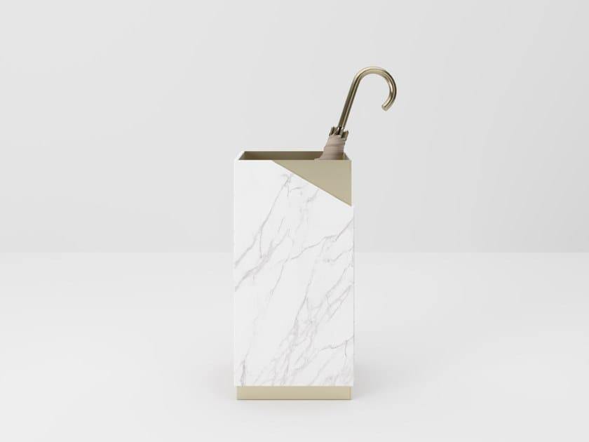Portaombrelli da terra in vetro e metallo LOUISE | Portaombrelli by PROF