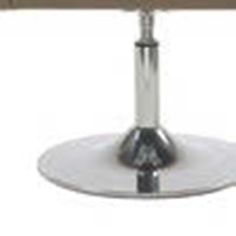 LOUNGE Poltrona - Particolare base a calice: in alluminio lucidato, con tubo di collegamento girevole