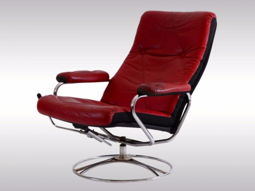 Swivel recliner armchair with armrests LOUNGE CHAIR by Woka Lamps Vienna