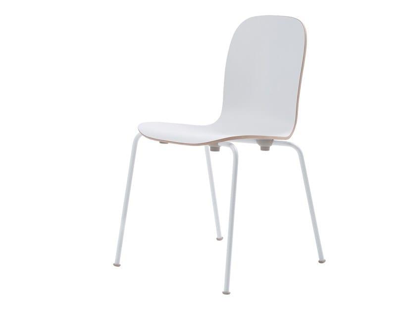 Sedia impilabile in laminato LOUNGE CHAIR by Cappellini