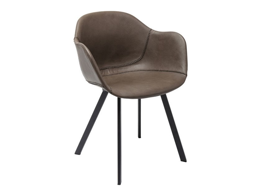 Eco-leather chair with armrests LOUNGE | Chair with armrests by KARE-DESIGN