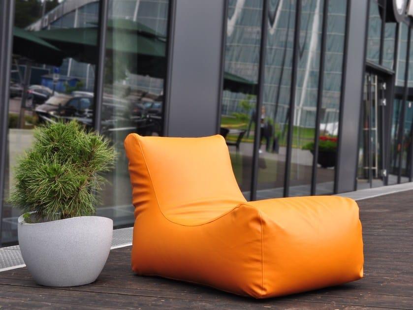 Upholstered imitation leather lounge chair LOUNGE OUTSIDE by Pusku pusku