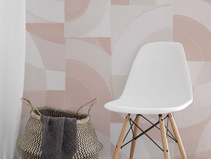 Geometric panoramic wallpaper LOUNGE by Isidore Leroy