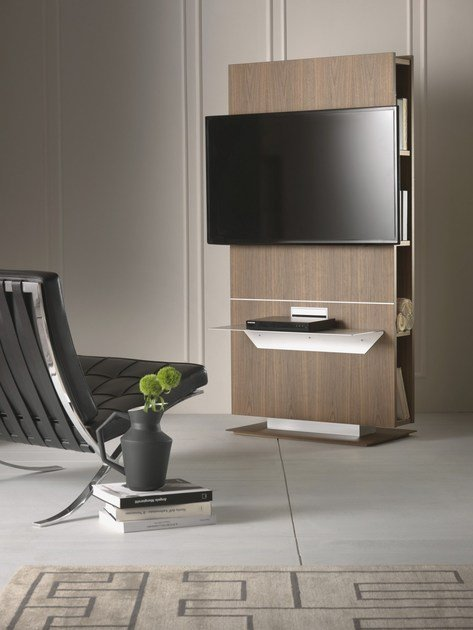 Mobile TV girevole con libreria LOUNGE | Mobile TV - Pacini & Cappellini